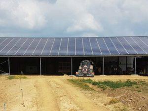 Hangar solaire 720m2 100kWc