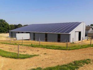 Hangar solaire 780m2 100kWc
